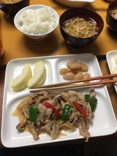 20160929_お肉と野菜炒め.JPG